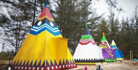 Gub Babel Resmikan Apache Camp KNPI Babel di Pantai Temberan Air Anyer
