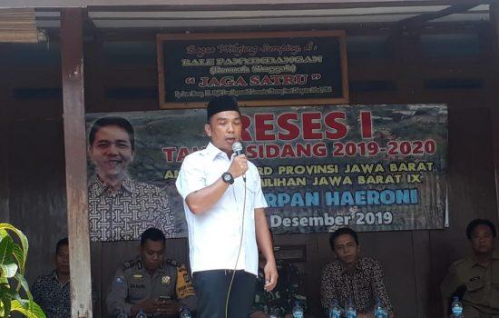 Reses Anggota DPRD Provinsi Jawa Barat Irpan Haeroni Fokus Objek Wisata Rawa Binong