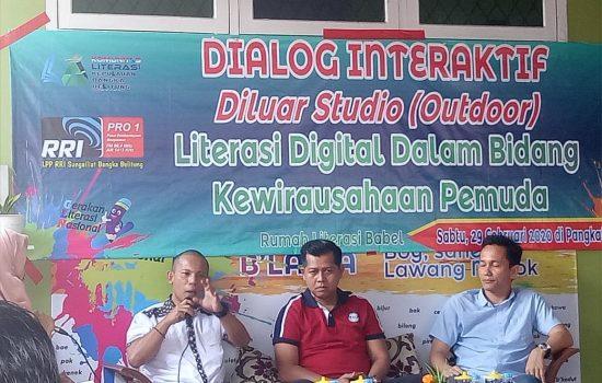 Rumah Literasi Babel Gelar Dialog Interaktif Soal Literasi Digital Kewirausahaan Pemuda