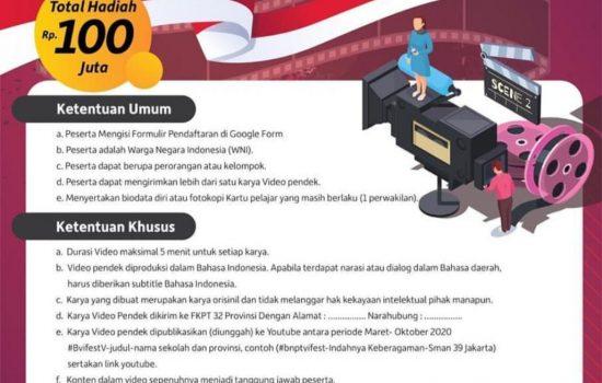 Ikutilah Lomba Video Pendek BNPT Untuk Pelajar Berhadiah Rp100 Juta