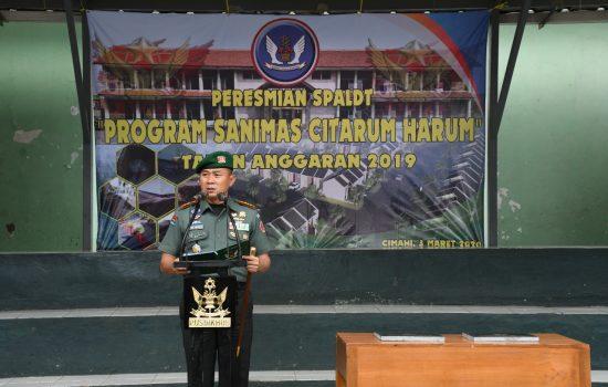 Pusdikhub Kodiklatad turut sukseskan Program Citarum Harum dengan pembangunan SPALDT