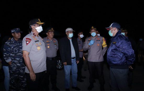 Pantau Sejumlah Lokasi Bersama Forkopimda, Gubernur Erzaldi Rosman Sosialisasikan Jam Malam